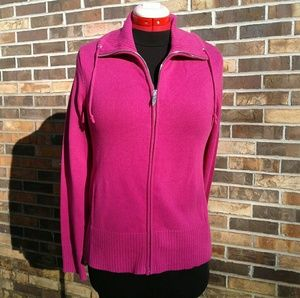 NWT Jones New York Raspberry Full Zip Jacket,M